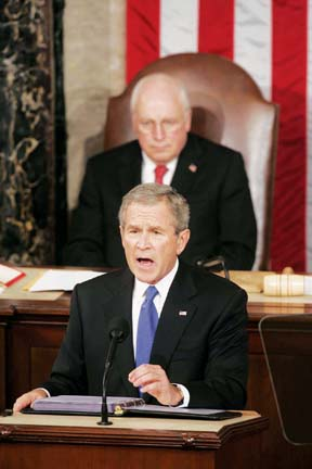 President Bush delivering the 2006 State of the Union Address
