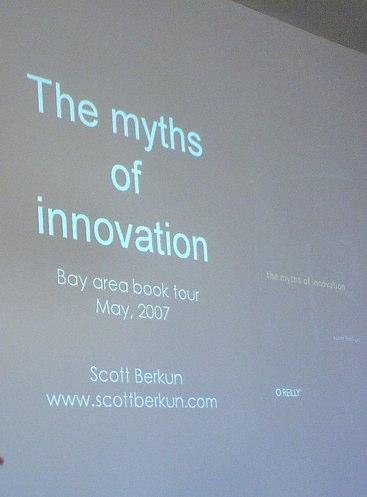 Opening Slide for Creativity Guru Scott Berkun