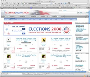 Picture of CreateDebate Web Site