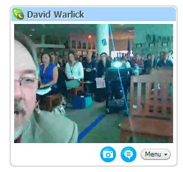 Photo of Skype Session taken by Adrian Bruce