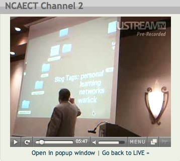Ustreaming of Personal Learning Networks Session