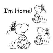 I'm Home Snoopy