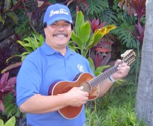 Jeep Briones with his Ukulele