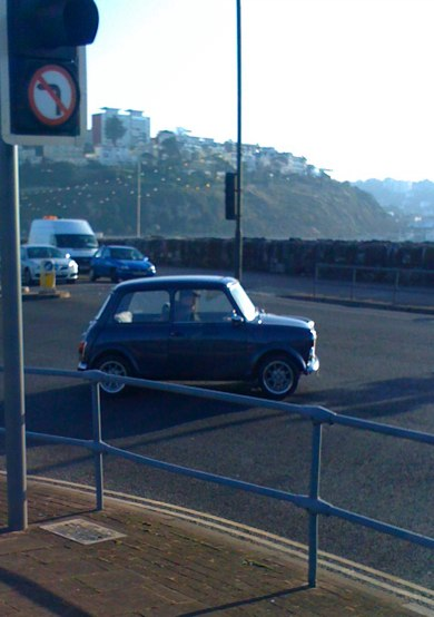 A Mini at Torquay