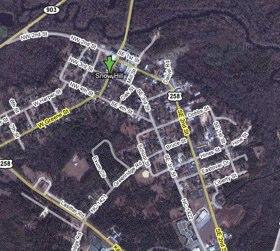Google Map of Green County's Snow Hill