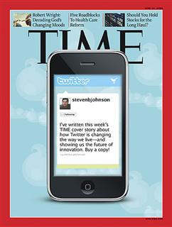 Twitter on the front page of Time Magazine