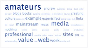 Tag Cloud of David Weinberger's Statements