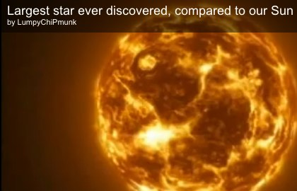 The size of our sun.