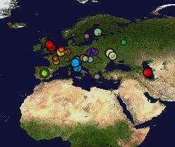 Image of Wikipedia Edits in Europe
