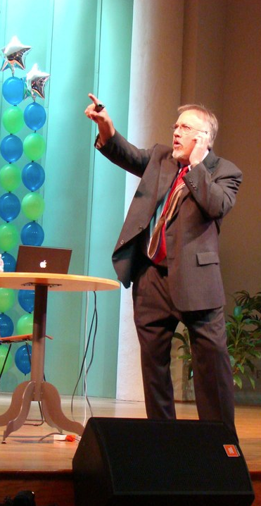 David speaking to teachers in Chapel Hill, North Carolina