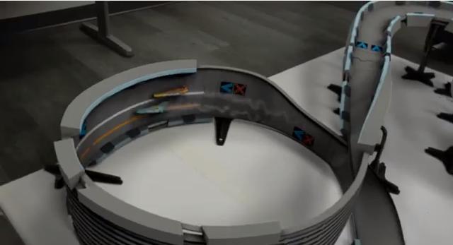 Quantum Levitation on a toy car track