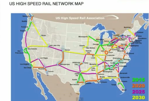 America's high-speed rail network of the future
