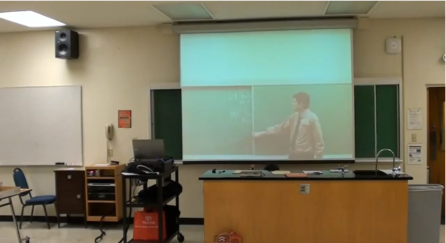 Creative teacher puts on a performance