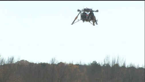 NASA Robotic Lander prototype takes off and lands