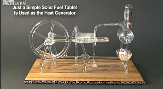 Steam engine made entirely out of glass