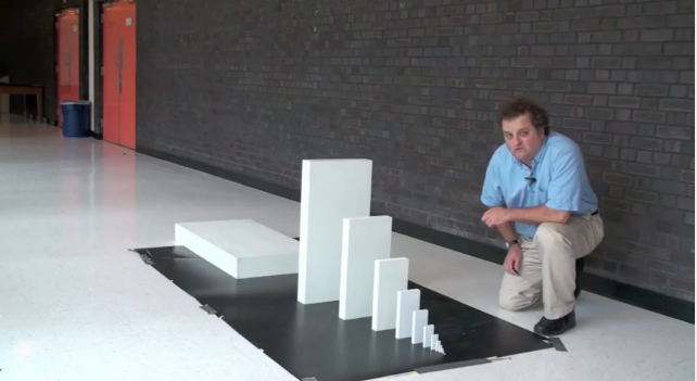 Domino physics: from tiny to huge