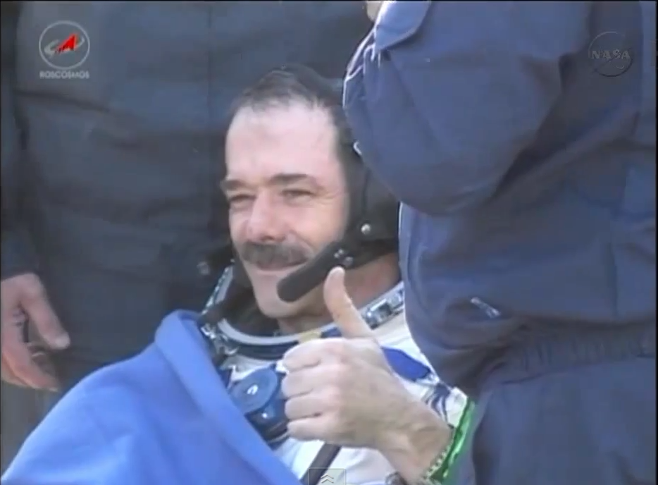 Expedition 35 arriving from space