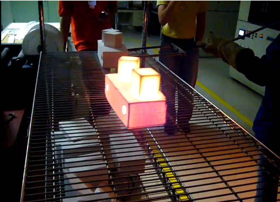 Watch thermal tile in action