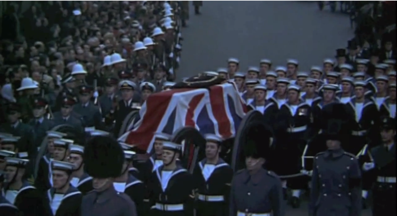 The funeral of Sir Winston Churchill