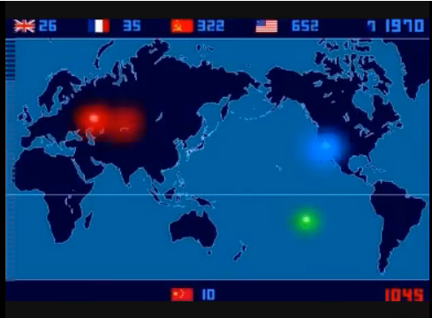 Nuclear Testing Map