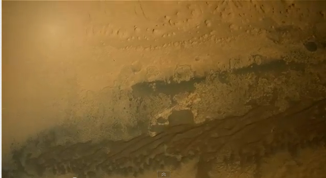 Interpolated footage of Curiosity's descent.