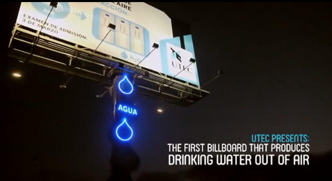 Water-Producing Billboard