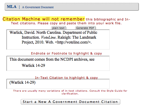 "citation machine ¢ worth i added the footnotes form element just beneath the ""make citation"" button so that it would not interrupt the normal flow of cm use"